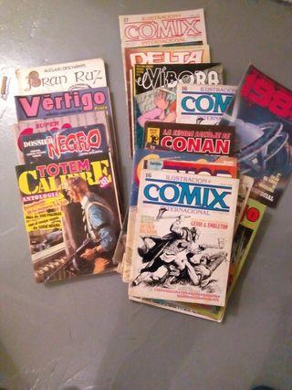 Lote de cómics variados.