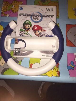 Mario kars Wii + volante