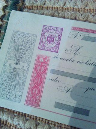 antigua letra de cambio