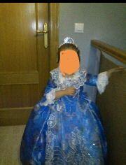 traje fallera niña color azul talla 4-8 años