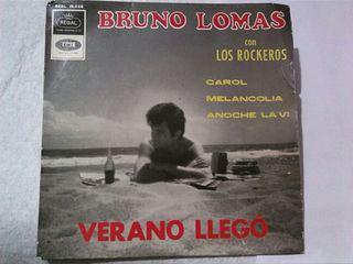 vinilo Bruno Lomas con Los Rockeros