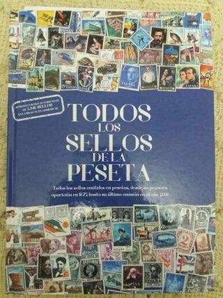 colección de todos los sellos de la peseta