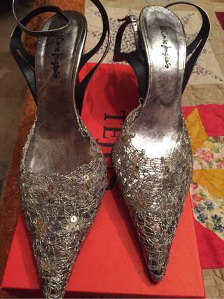 Zapato plata de fiesta