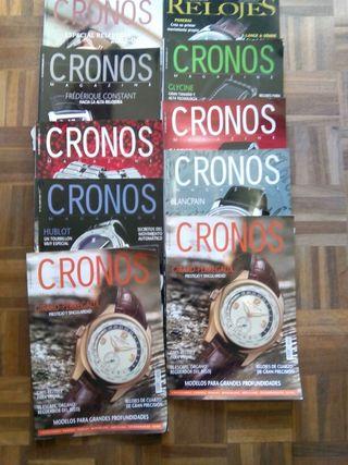 Lote revistas de relojes. Cronos.
