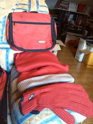 Bolso maletín + prendas invierno