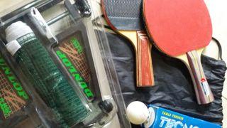 Equipo NUEVO raquetas y red ping pong