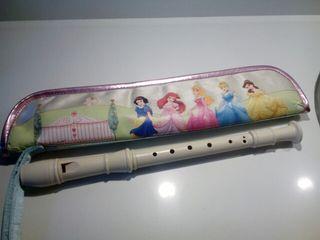 flauta escolar y funda princesas