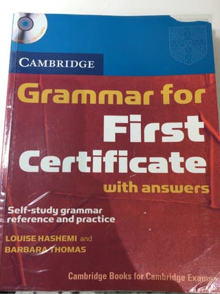 Grammar for First Certificate (with answers)