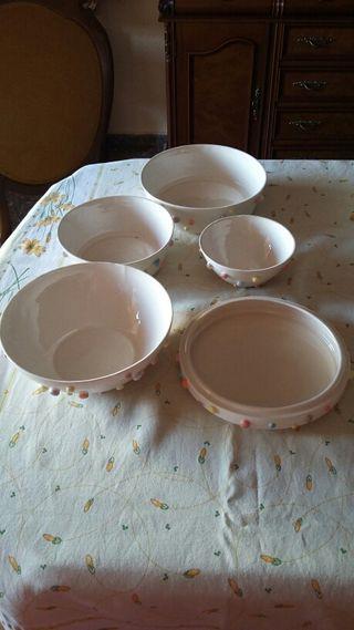Vajilla apilable ceramica