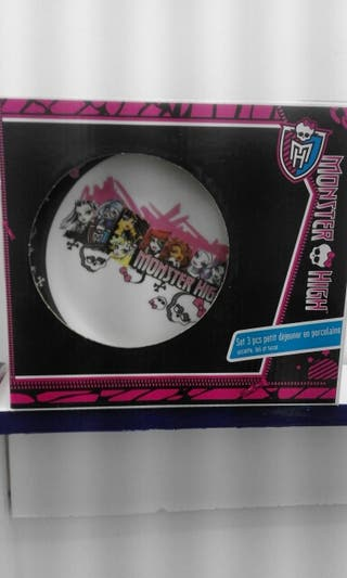 set desayuno monster high porcelana