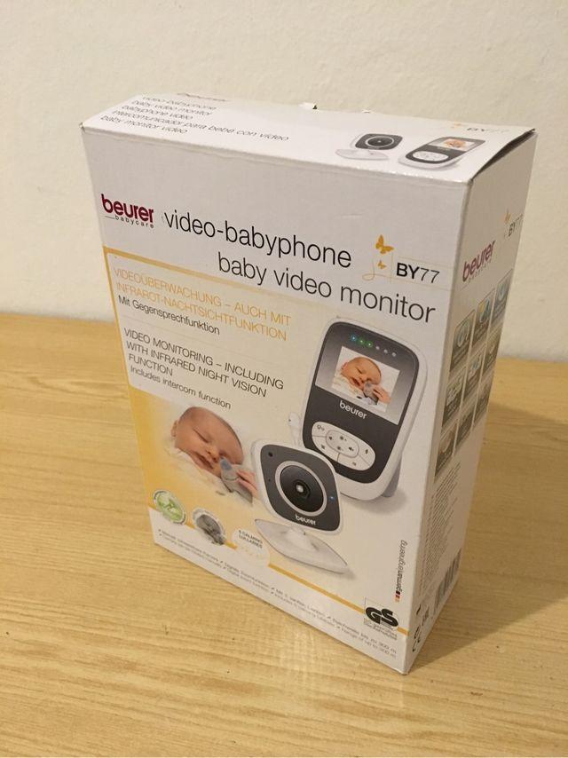 Vigila bebé con visión nocturna y pantalla padres