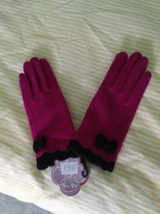 Guantes rosa