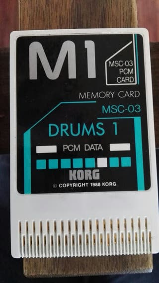 Korg M1 tarjetas