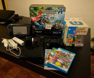 Consola Wii U 32 GB + 5 juegos +Mandos