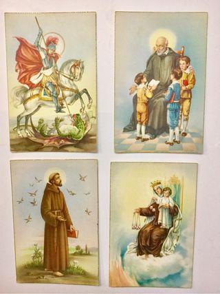 Lote 4 tarjetas postal religiosas. Años: 60