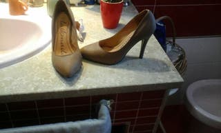 zapatos marron claro