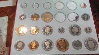 Colección de monedas de plata