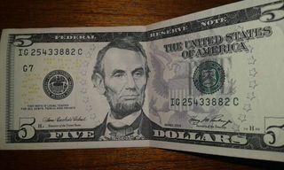 5 DOLARS AMERICANS MOLT BE CONSERVATS