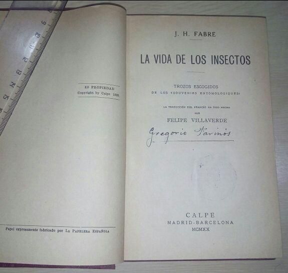 La vida de los insectos. Fabre
