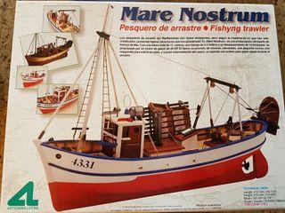 Maqueta barco, barco de madera Mare Nostrum.