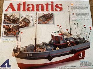 Maqueta barco, barco de madera Atlantis.