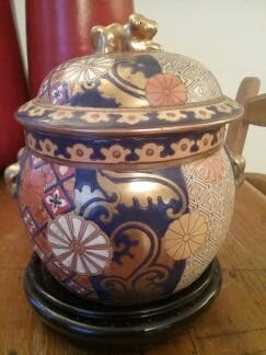jarrón oriental vintage