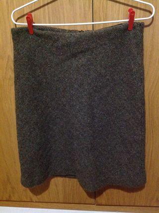 Falda de llana de Zara, talla 42