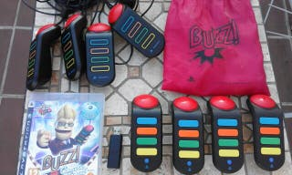 Buzz Concurso Universal con 4 mandos - PS3 Buzzers