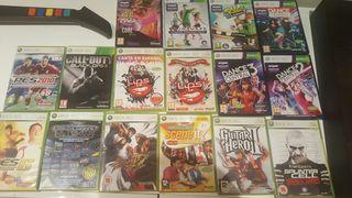Xbox 360 Slim + Kinect + 14 juegos + 2 micros + 3