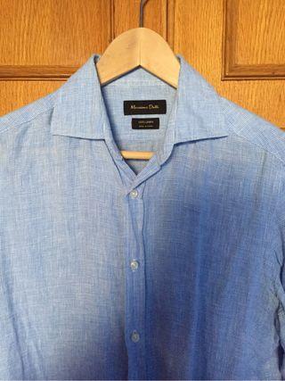 Camisa Lino Massimo Dutti talla S