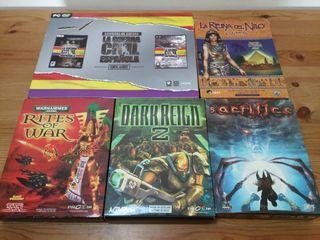 Juegos PC CD estrategia caja grande segunda mano  España