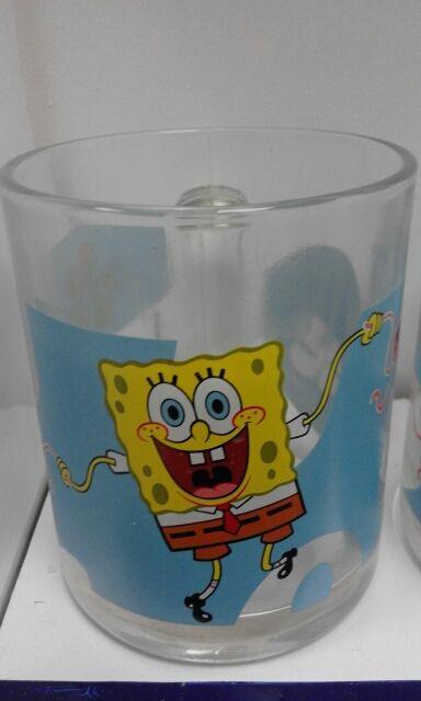 taza de vidrio Bob Esponja