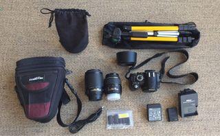 NIKON D3100 cámara+2 objetivos