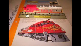 Locomotora tren EEUU F45 Santa Fe 100