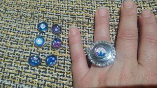anillo con abalorio
