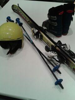 equipo ski niño
