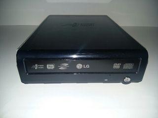 Grabadora, reproductora de Dvd y Cd externa.