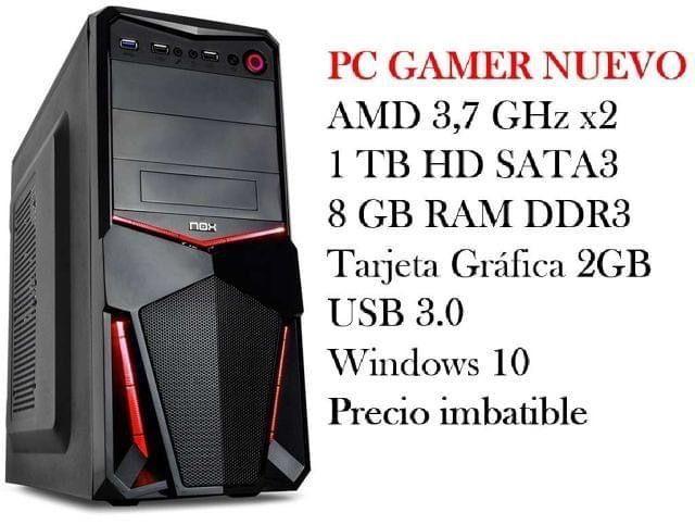Pc gamer nuevo AMD 3,7 Ghz x2