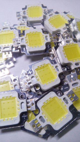 Led chip 10w 12v blanco,RGB,azul y full spectrum