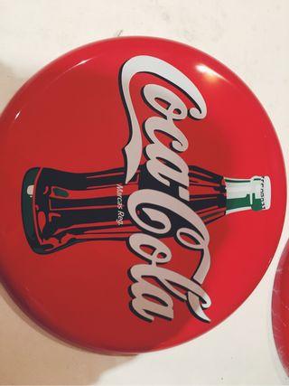 2 Chapas de coca cola vintage segunda mano  España