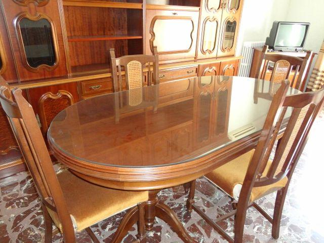 Mueble comedor clasico, mesa y sillas de segunda mano por 500 € en ...