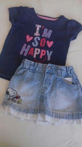 falda+camiseta t.2-3
