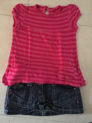 Falda y camiseta primavera