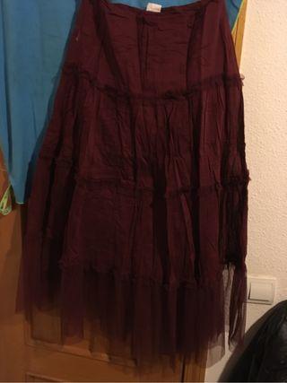 Falda larga india