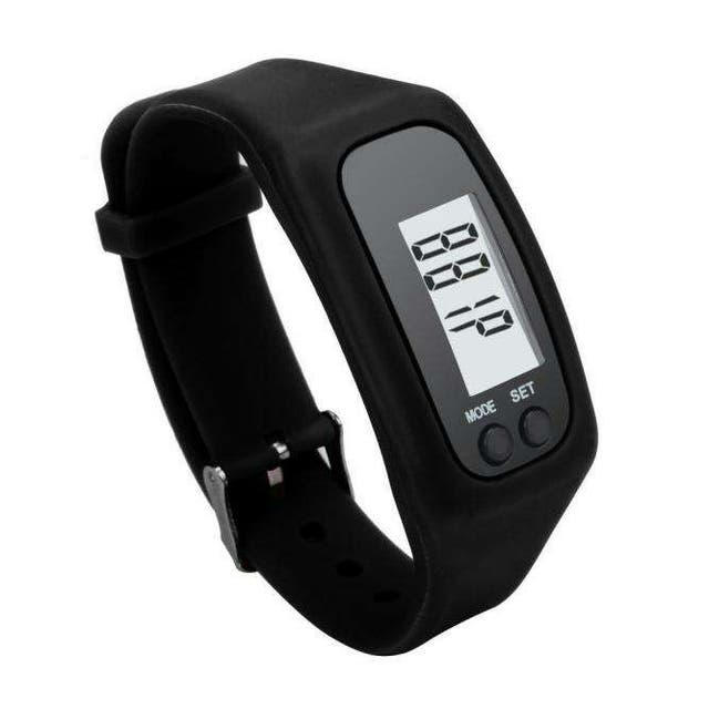 Reloj silicona negro podometro calorias km NUEVO