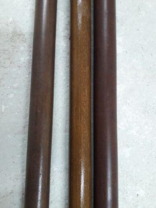 Barras cortinas madera