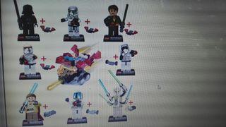 figuras tipo lego de star wars