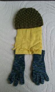 lote bufanda gorro guantes