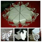 A Estrenar 10 cajitas para regalos diseño Mariposa