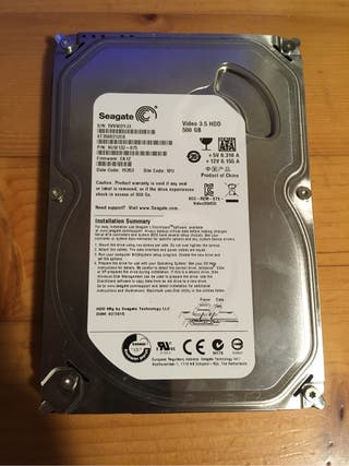 Disco duro 500GB Seagate 3.5